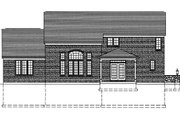Traditional Style House Plan - 4 Beds 2.5 Baths 2824 Sq/Ft Plan #46-401 Exterior - Rear Elevation
