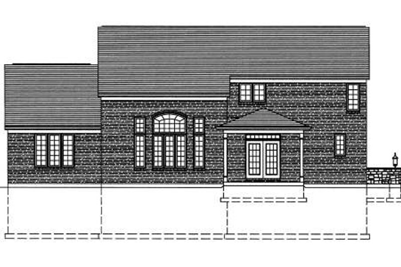 Traditional Exterior - Rear Elevation Plan #46-401 - Houseplans.com