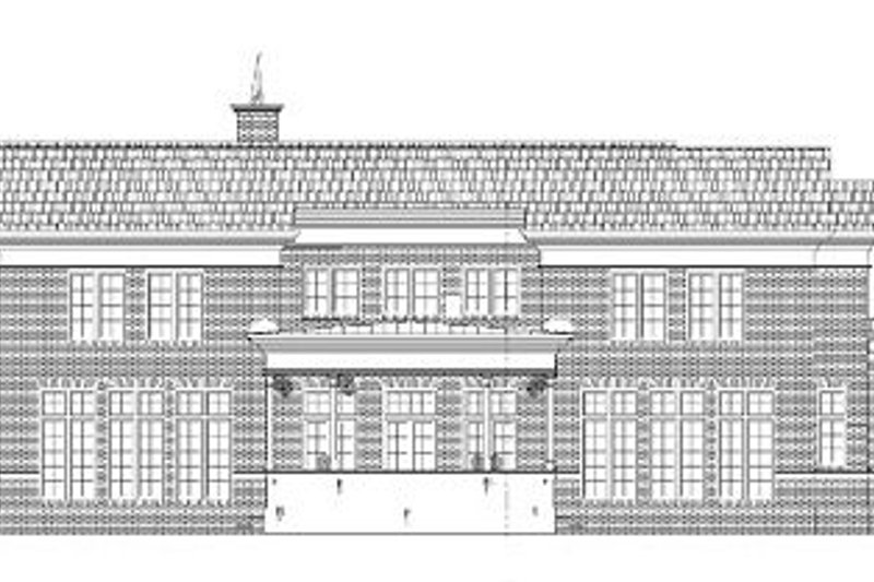 European Exterior - Rear Elevation Plan #119-310 - Houseplans.com