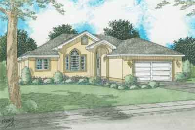 Exterior - Front Elevation Plan #126-129 - Houseplans.com