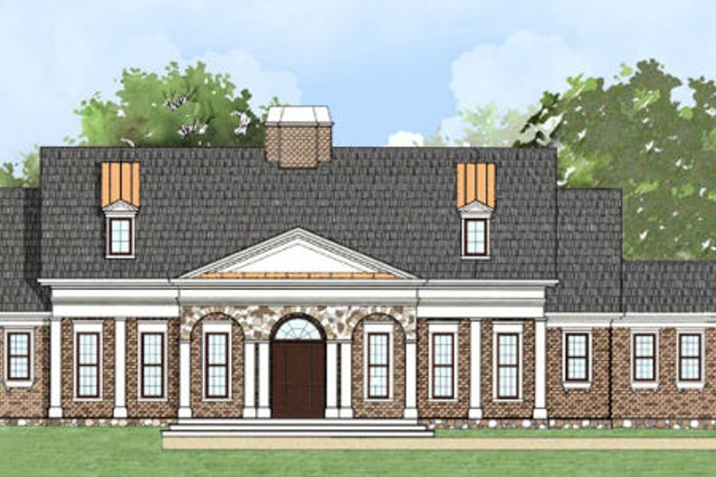 Classical Exterior - Front Elevation Plan #119-344