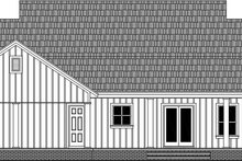 House Plan Design - Country Exterior - Rear Elevation Plan #21-456