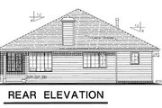 House Plan - 3 Beds 2 Baths 1375 Sq/Ft Plan #18-179 Exterior - Rear Elevation