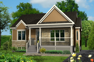 Country Exterior - Front Elevation Plan #25-4458
