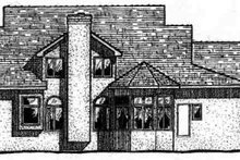 Colonial Exterior - Rear Elevation Plan #20-295