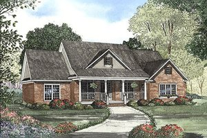 Country Exterior - Front Elevation Plan #17-614