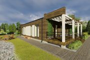 Modern Style House Plan - 3 Beds 1 Baths 1059 Sq/Ft Plan #549-1 Exterior - Rear Elevation