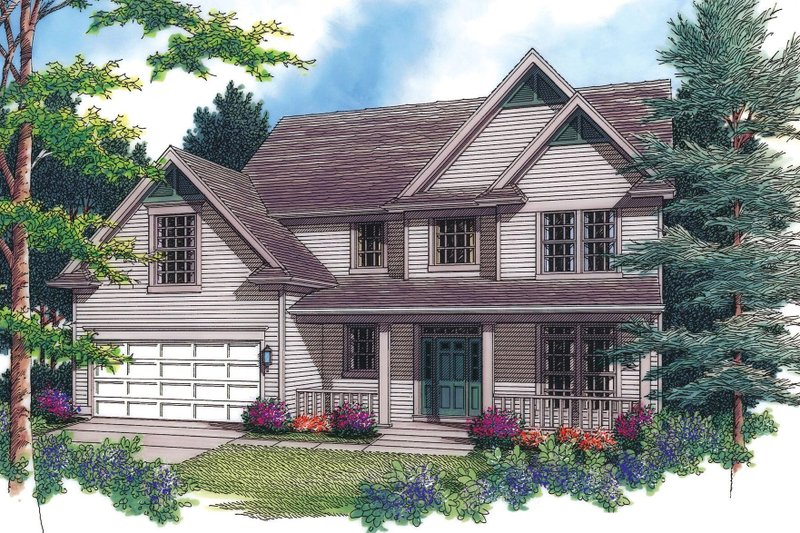 Dream House Plan - Traditional Exterior - Front Elevation Plan #48-330
