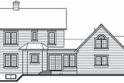 Victorian Style House Plan - 3 Beds 2.5 Baths 1936 Sq/Ft Plan #23-749 Exterior - Rear Elevation