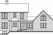 Victorian Exterior - Rear Elevation Plan #23-749