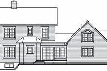 Home Plan - Victorian Exterior - Rear Elevation Plan #23-749