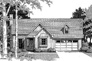 Home Plan - Country Exterior - Front Elevation Plan #41-106