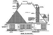 European Style House Plan - 4 Beds 3.5 Baths 3328 Sq/Ft Plan #17-2347 Exterior - Rear Elevation