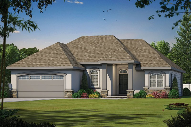 Dream House Plan - Mediterranean Exterior - Front Elevation Plan #20-1379