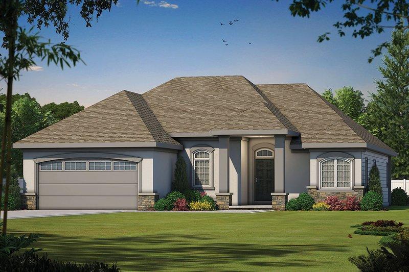 House Plan Design - Mediterranean Exterior - Front Elevation Plan #20-1379