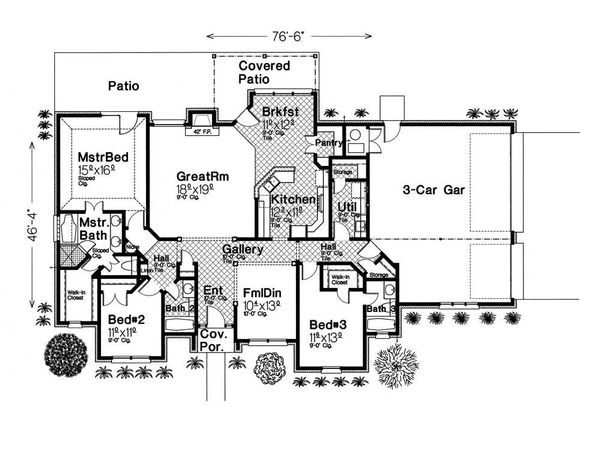 European Floor Plan - Main Floor Plan #310-430