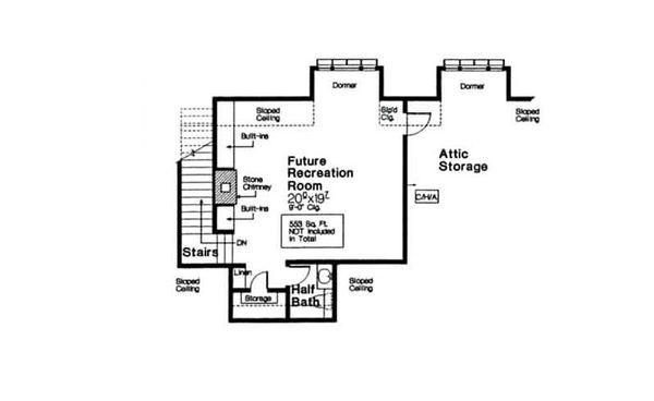 European Floor Plan - Other Floor Plan Plan #310-666