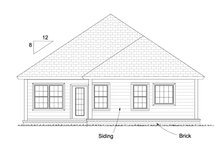 Cottage Exterior - Rear Elevation Plan #513-2086