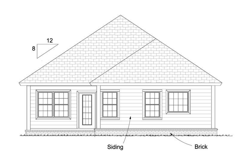 Cottage Exterior - Rear Elevation Plan #513-2086 - Houseplans.com