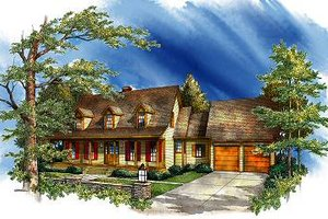 Country Exterior - Front Elevation Plan #71-115