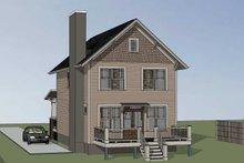 Dream House Plan - Craftsman Exterior - Rear Elevation Plan #79-315