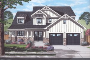 Craftsman Exterior - Front Elevation Plan #46-891