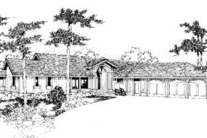 Contemporary Exterior - Front Elevation Plan #60-355