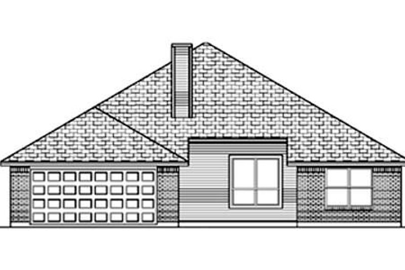 Traditional Exterior - Rear Elevation Plan #84-356 - Houseplans.com