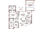 European Style House Plan - 4 Beds 3.5 Baths 2901 Sq/Ft Plan #63-320 Floor Plan - Main Floor Plan