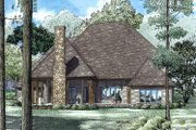 European Style House Plan - 5 Beds 4.5 Baths 4830 Sq/Ft Plan #17-2568 Exterior - Rear Elevation