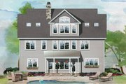 Craftsman Style House Plan - 5 Beds 4.5 Baths 3218 Sq/Ft Plan #929-1079 Exterior - Rear Elevation