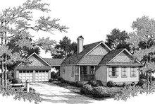 Dream House Plan - Farmhouse Exterior - Front Elevation Plan #41-175