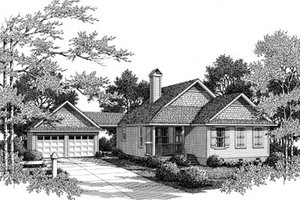 Farmhouse Exterior - Front Elevation Plan #41-175