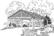 Traditional Style House Plan - 0 Beds 0 Baths 360 Sq/Ft Plan #124-663