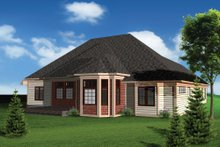 House Design - Ranch Exterior - Rear Elevation Plan #70-1098