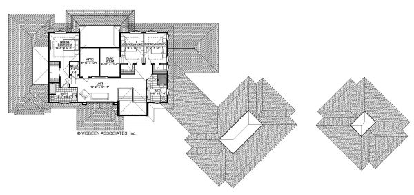 Traditional Floor Plan - Upper Floor Plan Plan #928-329
