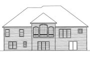 Traditional Style House Plan - 4 Beds 3 Baths 2916 Sq/Ft Plan #31-134 Exterior - Rear Elevation