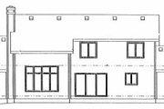 Traditional Style House Plan - 4 Beds 2.5 Baths 2029 Sq/Ft Plan #20-676 Exterior - Rear Elevation