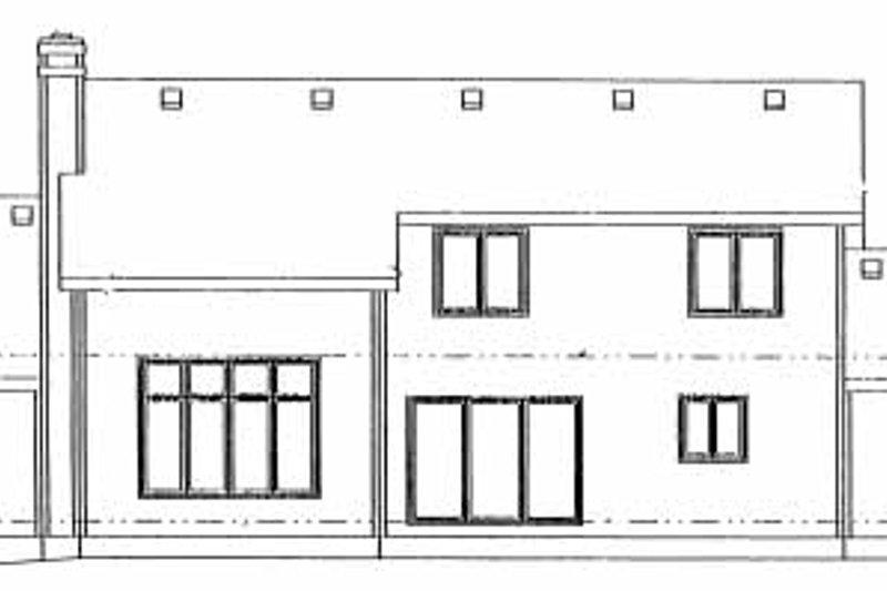 Traditional Exterior - Rear Elevation Plan #20-676 - Houseplans.com