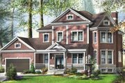 European Style House Plan - 5 Beds 2.5 Baths 3348 Sq/Ft Plan #25-4173 Exterior - Front Elevation