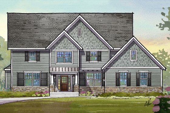 Traditional Exterior - Front Elevation Plan #901-117