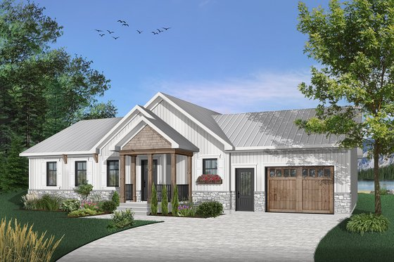 Ranch Exterior - Front Elevation Plan #23-2652