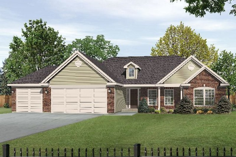 Country Exterior - Front Elevation Plan #22-470