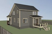 Bungalow Style House Plan - 4 Beds 2 Baths 1495 Sq/Ft Plan #79-204 Exterior - Rear Elevation