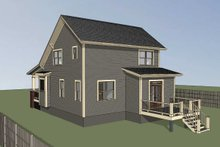 Architectural House Design - Bungalow Exterior - Rear Elevation Plan #79-204
