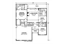 Traditional Floor Plan - Main Floor Plan Plan #513-2189