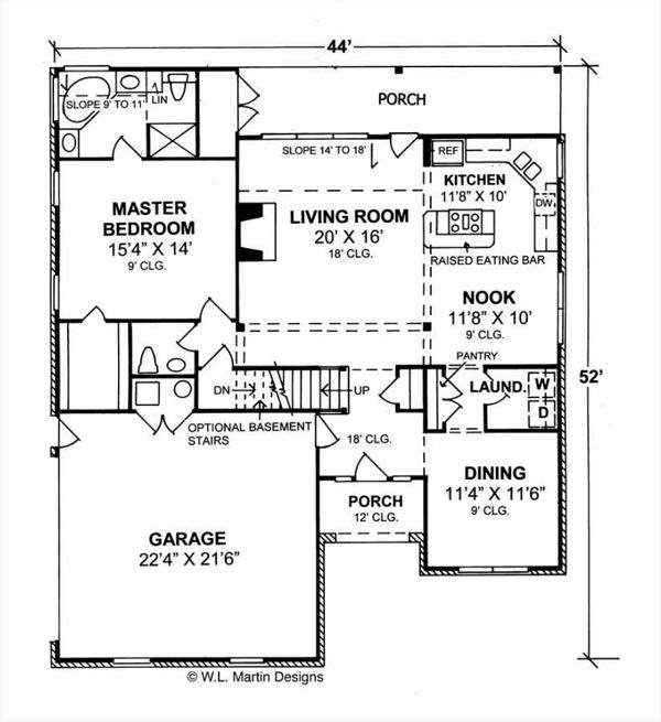 Home Plan - Traditional Floor Plan - Main Floor Plan #513-2189