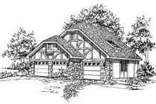 Tudor Exterior - Front Elevation Plan #72-242