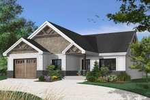 Craftsman Exterior - Front Elevation Plan #23-2641