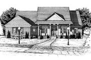 Country Style House Plan - 3 Beds 2 Baths 2040 Sq/Ft Plan #20-683 Exterior - Front Elevation